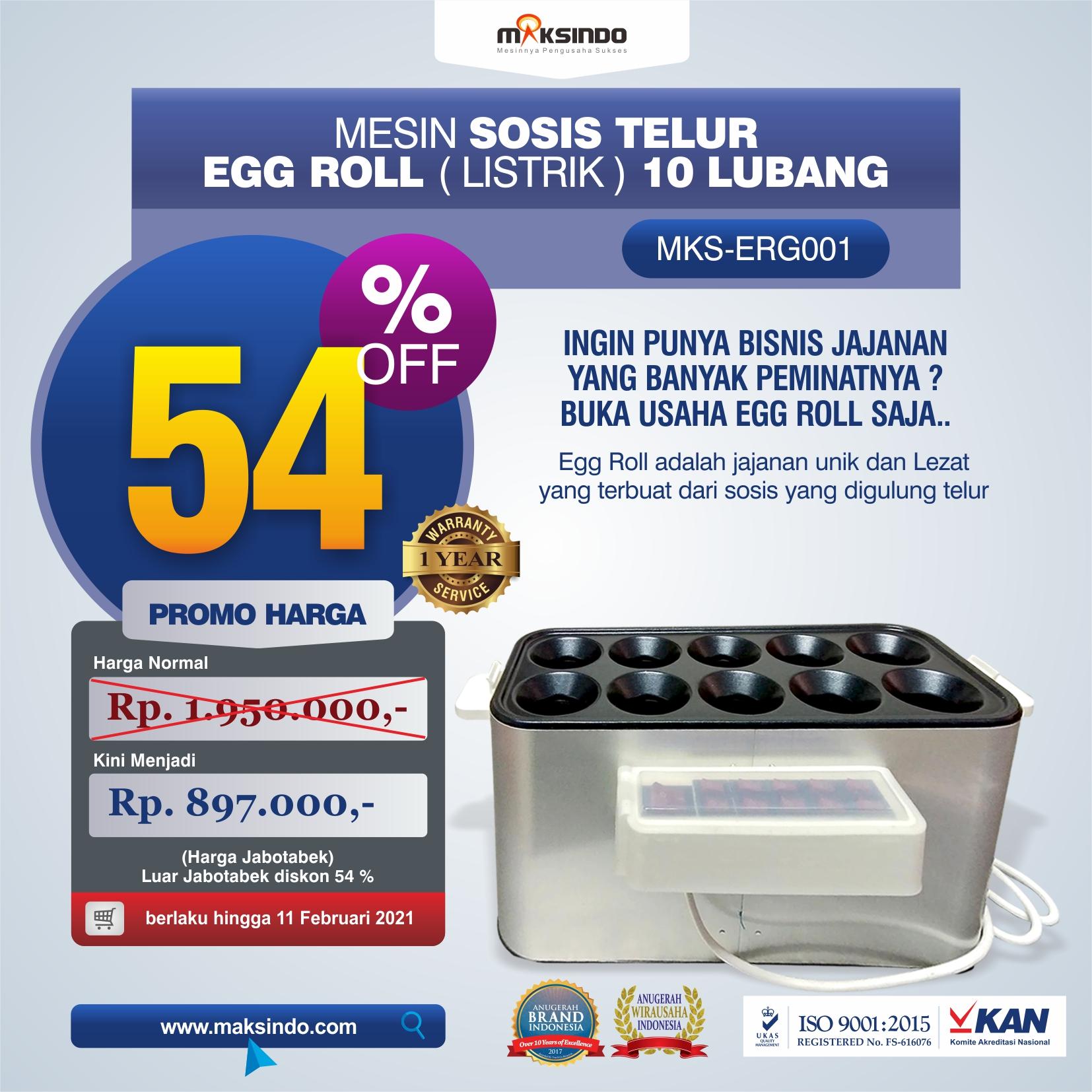 Jual Mesin Pembuat Egg Roll (Listrik) di Makassar