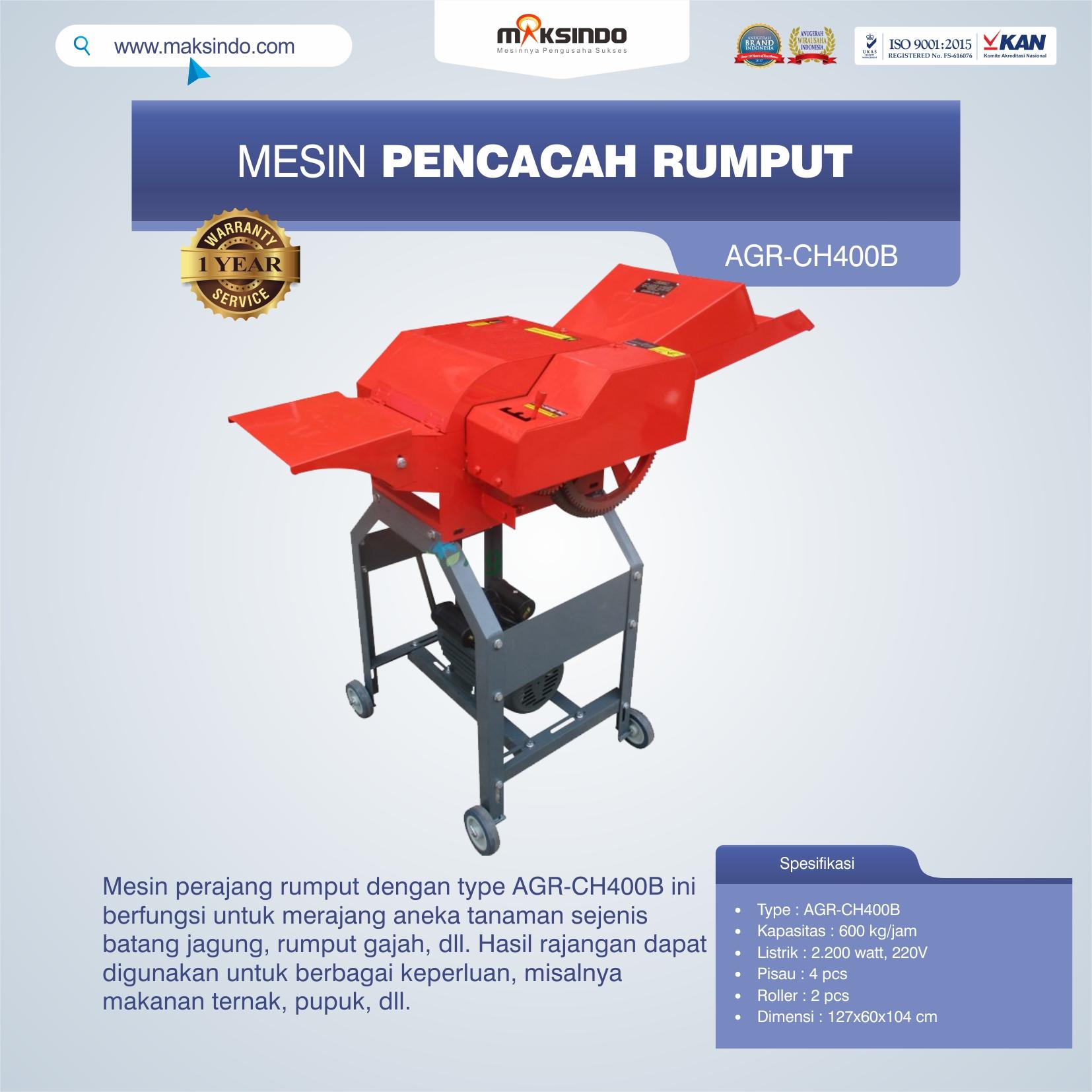 Jual Mesin Pencacah RumputAGR-CH400B di Makassar