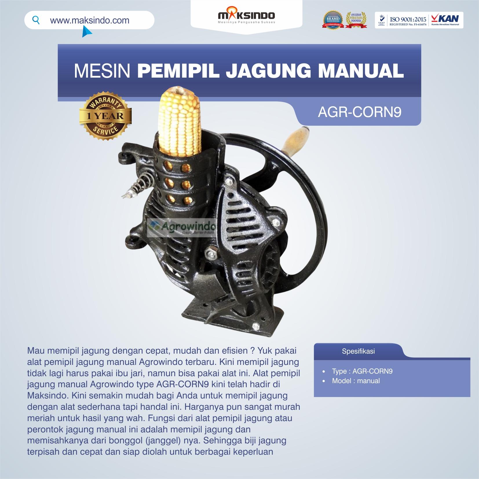 Jual Alat Pemipil Jagung Manual Agrowindo AGR-CORN9 di Makassar