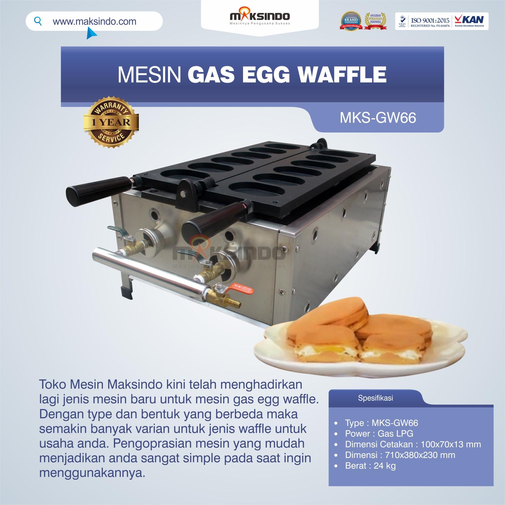 Jual Mesin Gas Egg Waffle GW66 di Makassar