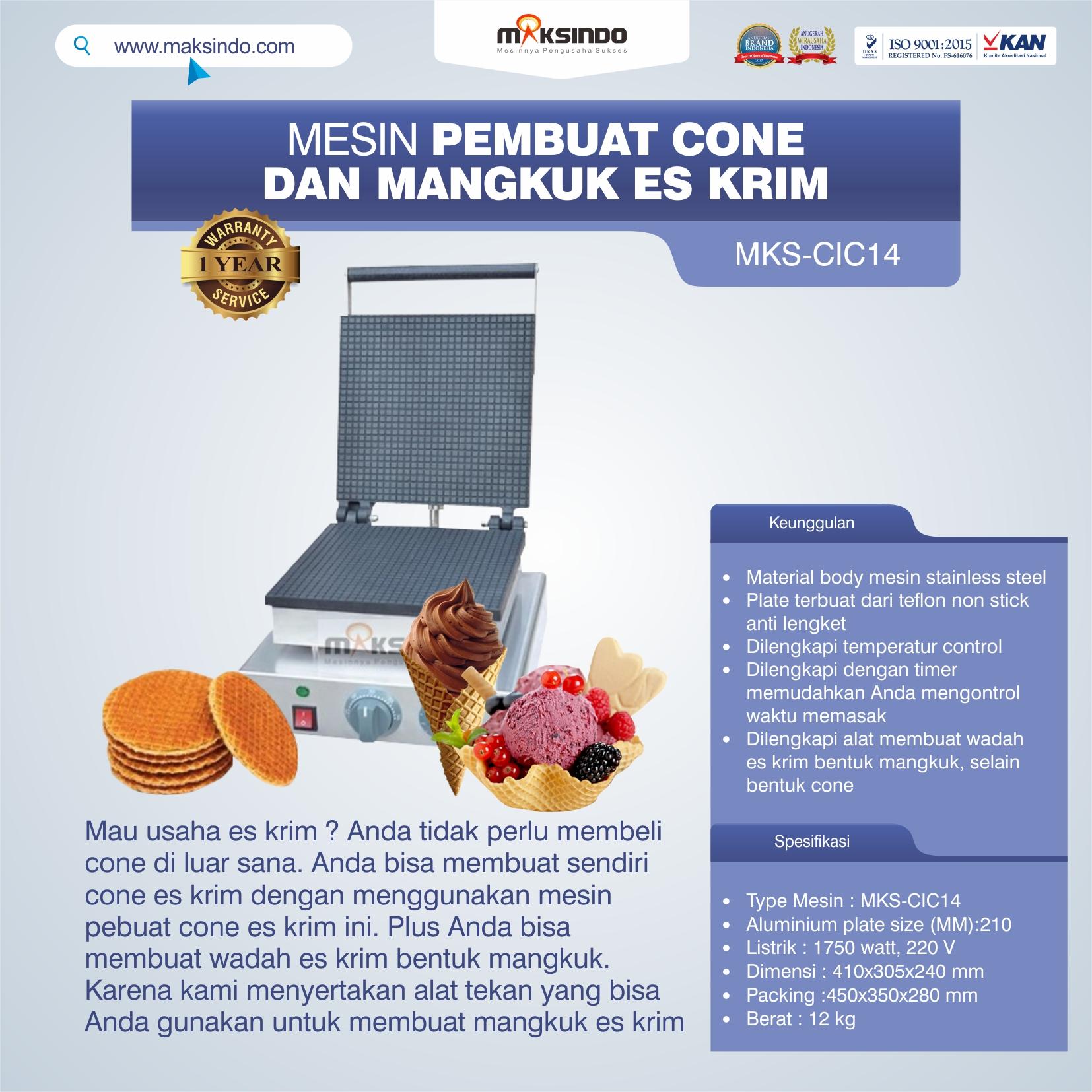 Jual Pembuat Cone dan Mangkuk Es Krim (CIC14) di Makassar