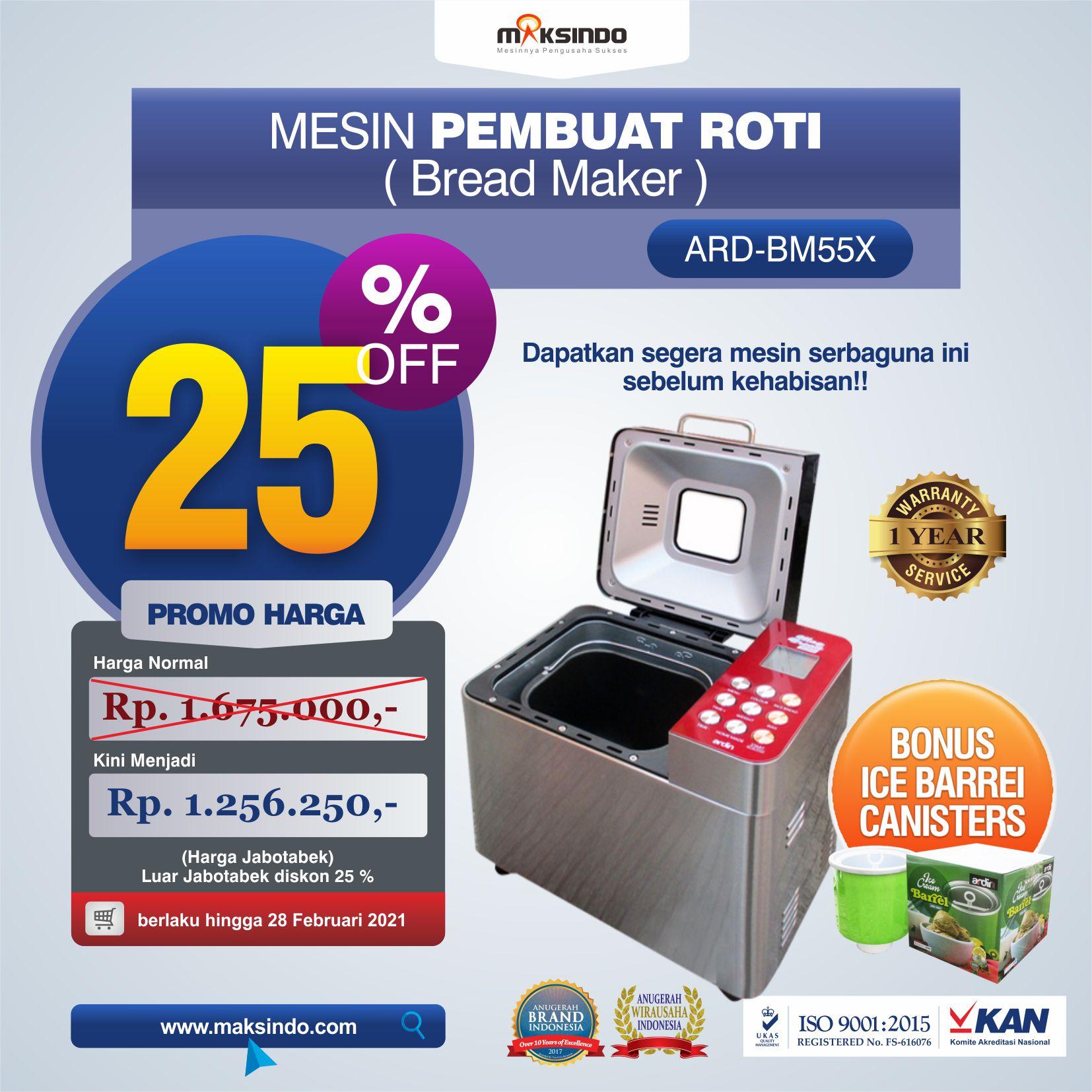 Jual Pembuat Roti Bread Maker ARD-BM55X di Makassar
