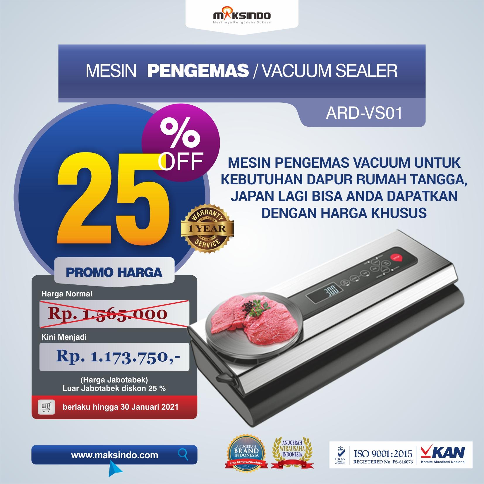 Jual Mesin Pengemas Vacuum Sealer ARD-VS01 di Makassar